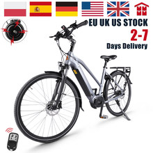 36V Bike Electric Power 7-speed City Commueter Electric Bicycle Lithium Battery Front Shock Absorber Electric Car 28 inch