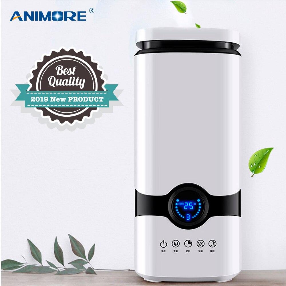 Humidificateur ANIMORE diffuseur d'arôme d'huile essentielle remplissage supérieur 4L humidificateur d'air à ultrasons avec télécommande intelligente