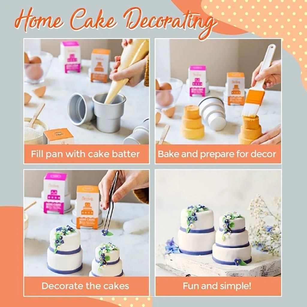 Mini Bánh Ngọt 3 Tầng Chảo Bánh Khuôn Muffin Trang Trí Khuôn Dụng Cụ Nhà Bếp Món Tráng Miệng Bánh Trang Trí Dụng Cụ Nướng Moulds