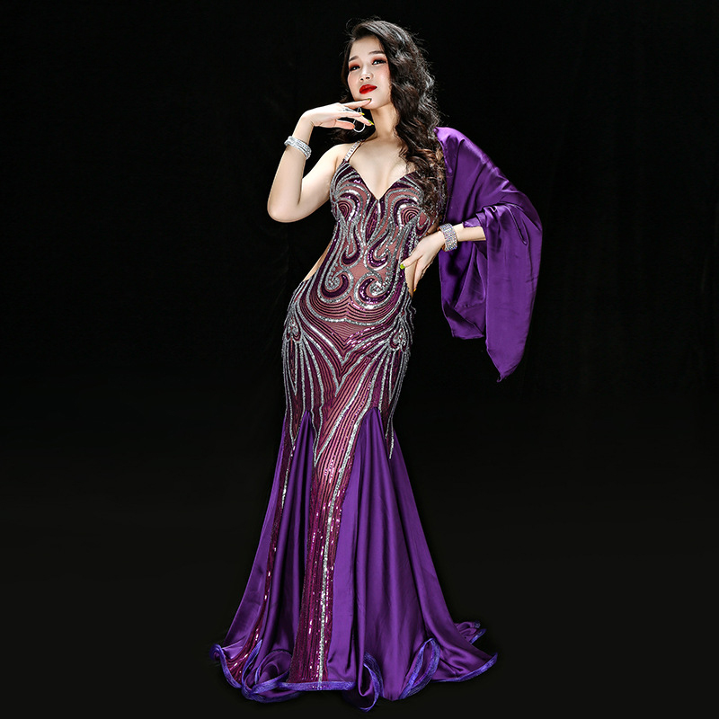 High Quality Belly Dance Costume Dresses Mermaid Sexy Long Dress  Womens Oriental Belly Dance Costumes For Sale Dancing Outfits