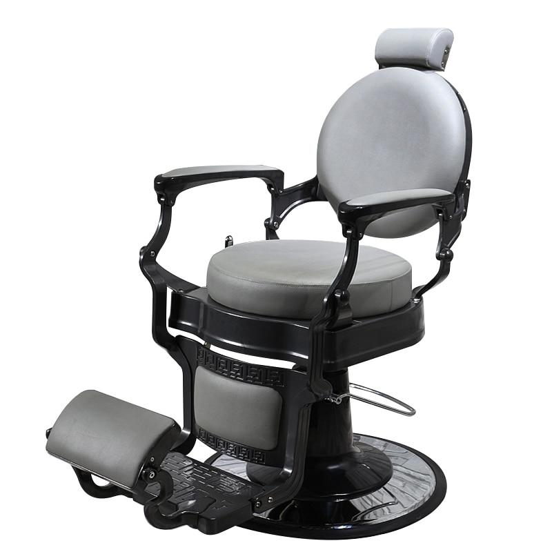 Luxury Retro High-end Chair New Hair Care Chair Antique Oil Head Hairdressing Chair Can Be Put Down Shaving Beauty Salon Chair