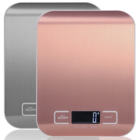 Kitchen Scale Multifunction Digital Food Scale  11 lb 5 kg   Stainless Steel Platform with LCD Display (Rose gold/Silver)