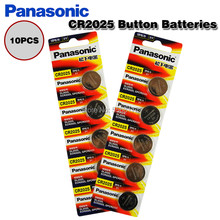 10 pçs original panasonic cr2025 botão baterias de célula para câmera digital camcorder relógio calculadora peso escala 3 v pilha lítio