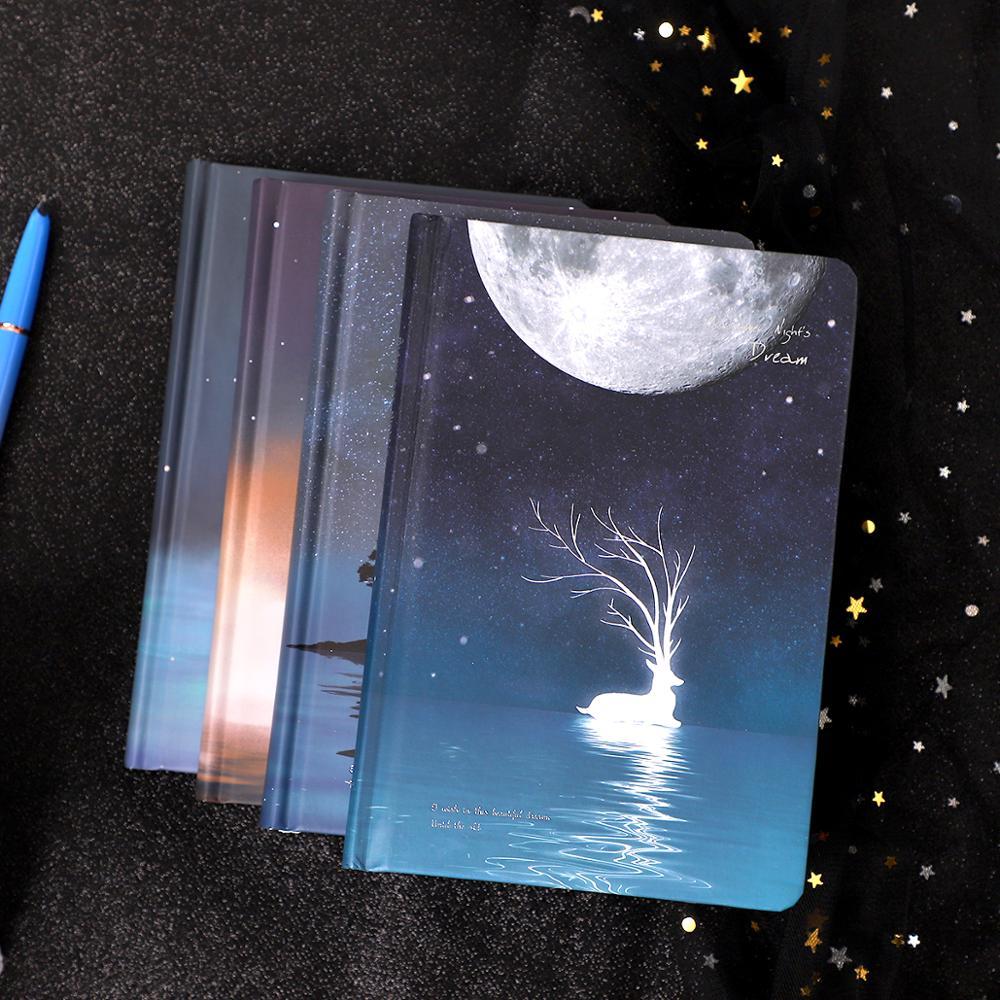Image 5 - creative Luminous notebook Notepad Book For Kids Korean Stationery creative Kawaii Journal Diary School office suppliesNotebooks   -