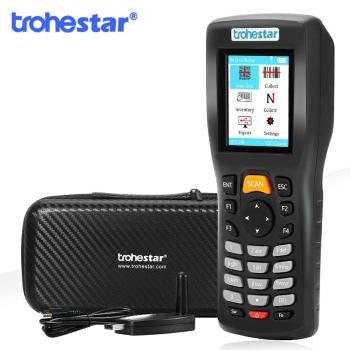 Trohestar Wireless Barcode Scanner 1D 2D QR Bar Code Reader Handheld Inventory Counter Data Collector Bar Code Scanners цена 2017