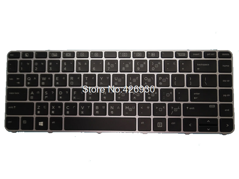 Laptop Keyboard for HP EliteBook 1040 G3 with Backlit Black with Silver Frame GR German SN6142BL GR 844423-041 752928-041 SG-59840-2DA 758027-041