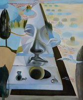 100% Handmade Abstract Face Salvador Dali Oil Painting Reproduction Famous Artist Artwork for Living room Bedroom