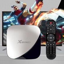X88 PRO TV Box أندرويد 9.0 4GB 4K فك التشفير RAM 64GB 32GB جوجل مساعد الصوت Rockchip RK3318 رباعية النواة واي فاي يوتيوب 4K