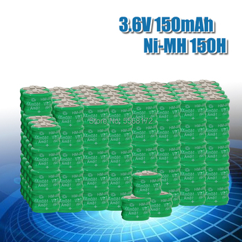 5/6/8/10/20/50/100PCS 3.6V 150MAH Ni-MH Button Rechargeable Battery w/3pin For PLC data backup power Memory power supply