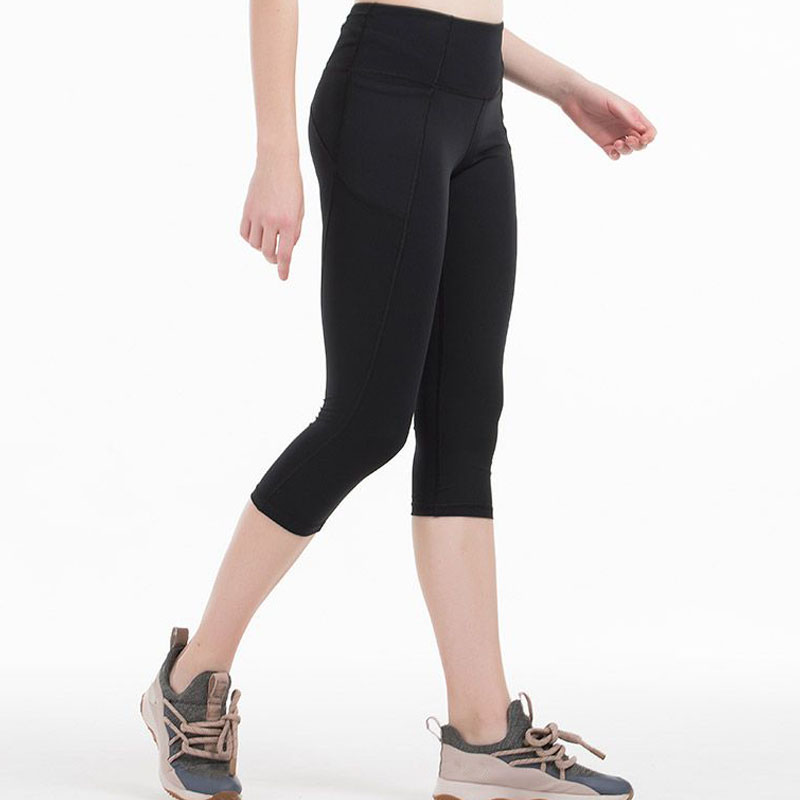 2020 Woman Capris 4 Way Stretch Fabric Pant With 2 Pocket Fitness Leggings Skinny Penicl Capris