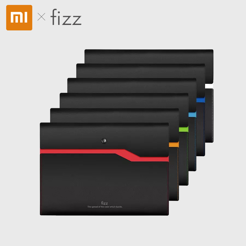 Xiaomi Fizz Color Double Layer Document Bag 6 Colors Waterproof A4 File Document Bag Business Documents Pouch With Pen Clip