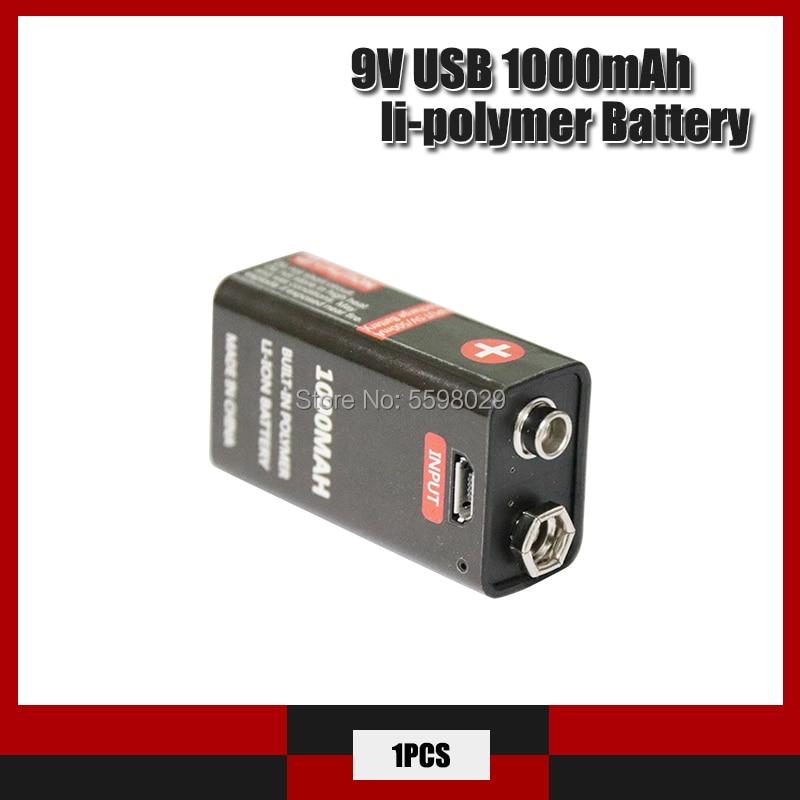 Литий-ионный аккумулятор 6F22, 9 В, 1000 мАч, 1 шт.