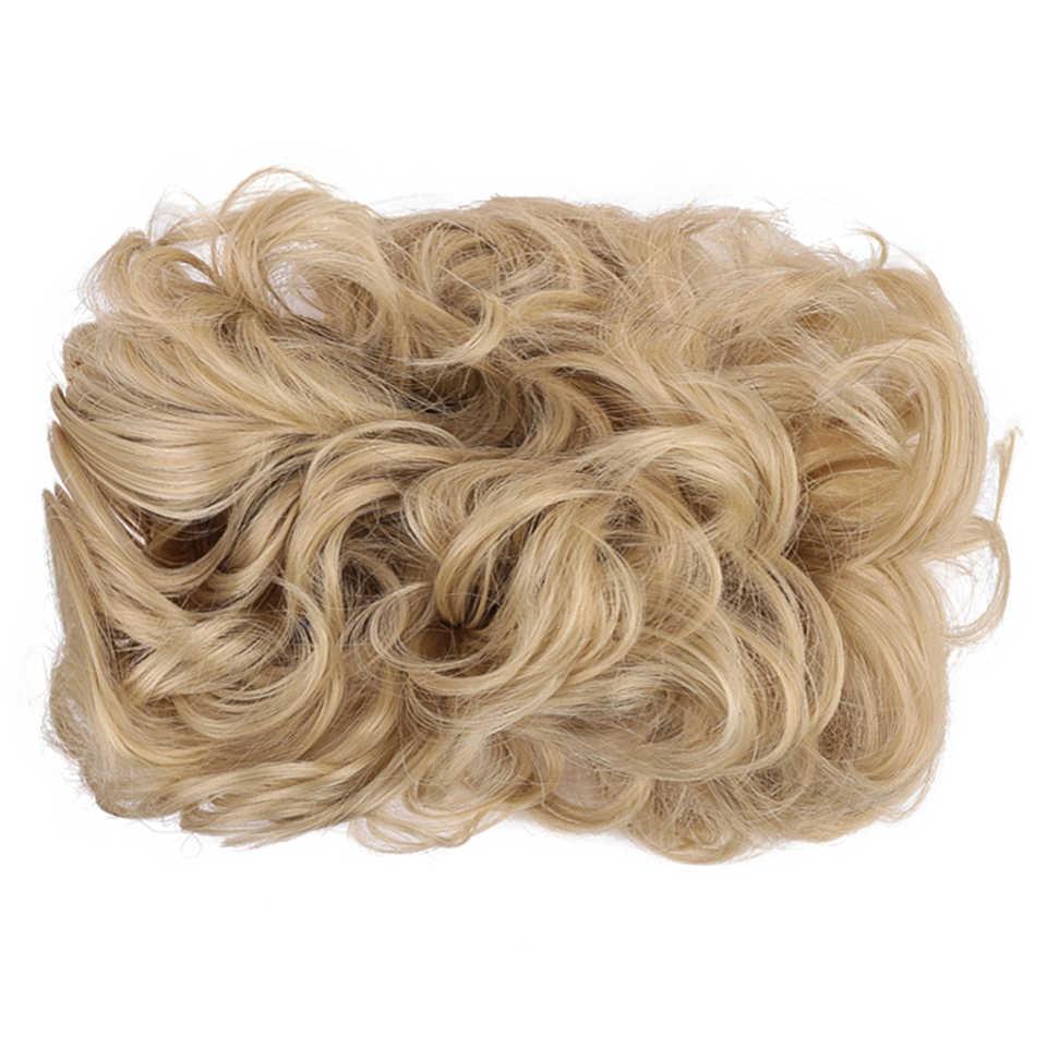 8 kolorów krótkie kręcone Chignon peruka żaroodporne włosy syntetyczne Big Bun Chignon puszyste fryzury dla kobiet ślubne na włosy kok