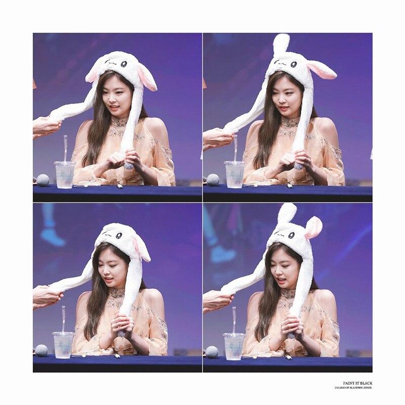 Plush-Bomber-Hats ROSE Love LJJ90 Concert Gift LISA JENNIE Kill-This Blackpink Funny