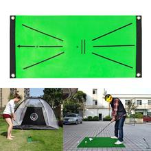 Flannel  Practical Soft Base Golf Training Carpet Reusable Golf Practice Aid Mat Shock Absorbing   for Exercise