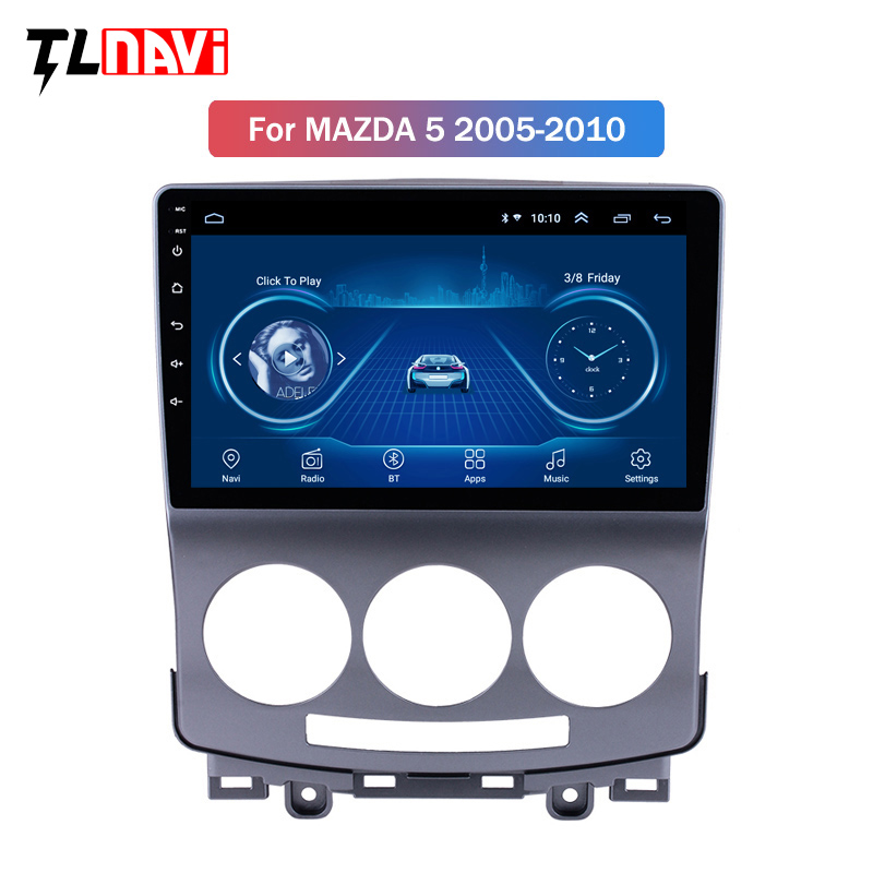 <font><b>GPS</b></font> Head Unit Android 8.1 9 inch Car Radio For 2005-2010 Old <font><b>Mazda</b></font> <font><b>5</b></font> Multimedia Player Support Wifi OBD2 DAB+ Camera image