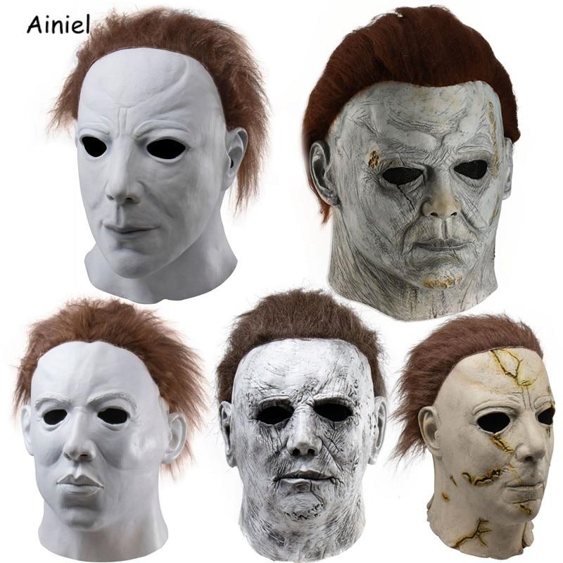 Halloween Michael Myers Full Head Mask Fancy Dress Cosplay Horror Props Unisex