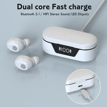 Mini Wireless Headphones Bluetooth 5.1Earphones Touch Control Waterproof Headphone Noise Cancelling Stereo Bass Headset With Mic