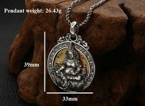 Image 2 - Real 925 prata tibetano amarelo jambhala buda pingente de prata esterlina zambhala riqueza buda pingente amarelo fortuna deus pingente