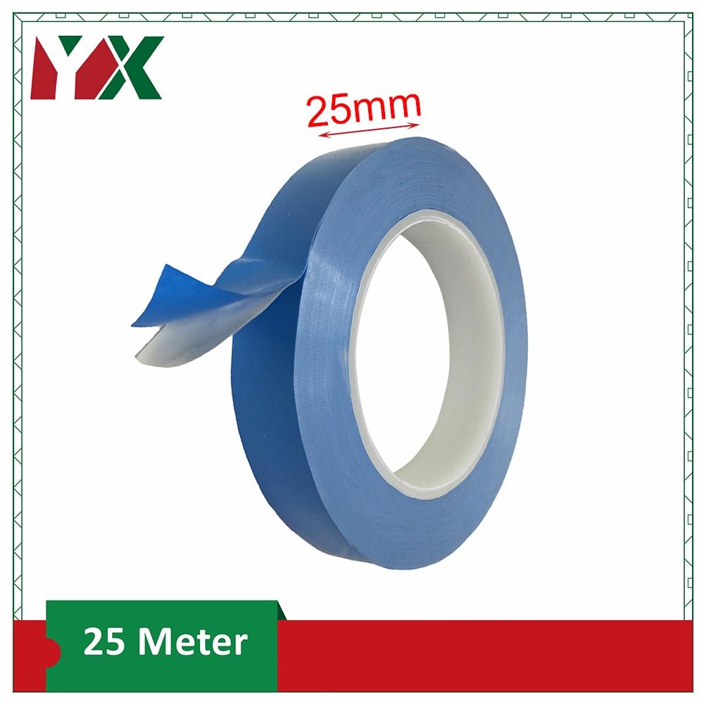 YX 1 pièces 25mm largeur ruban de transfert Double face bande adhésive conductrice thermique pour puce PCB LED bande dissipateur thermique