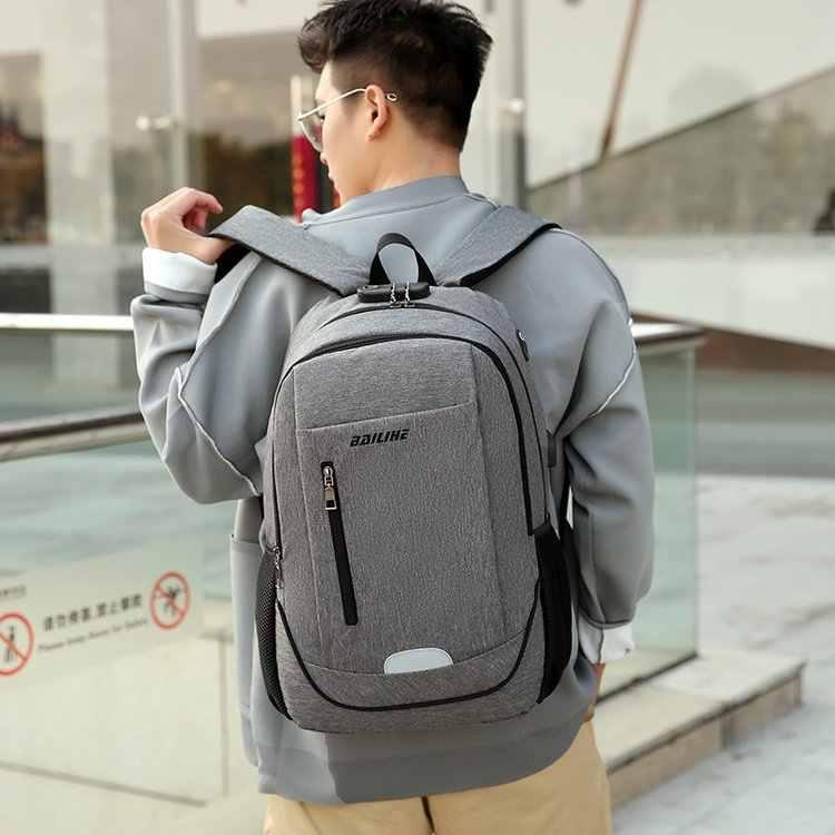 موضة جديدة مضادة للسرقة على ظهره 2020 الرجال على ظهره حقيبة كمبيوتر محمول الذكور مقاوم للماء حقيبة كتف الرجال على ظهره حقيبة الظهر