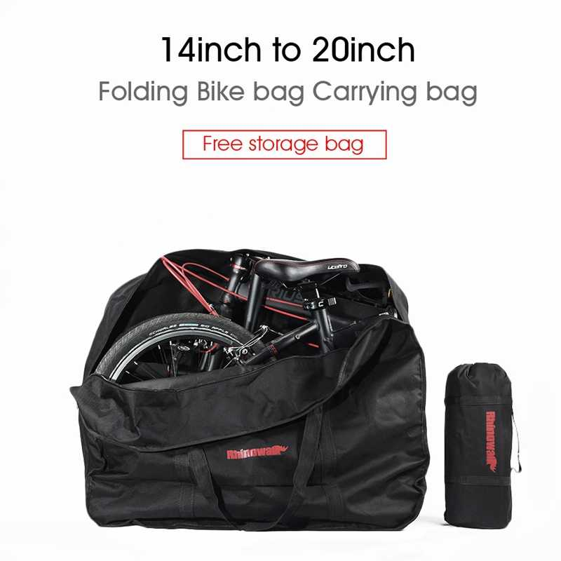 "14 ""16"" 20 ""portador de bicicleta plegable bolsa de embalaje de bicicleta gruesa bolsa de transporte de bicicleta plegable bolsa de carga impermeable para vehículo"