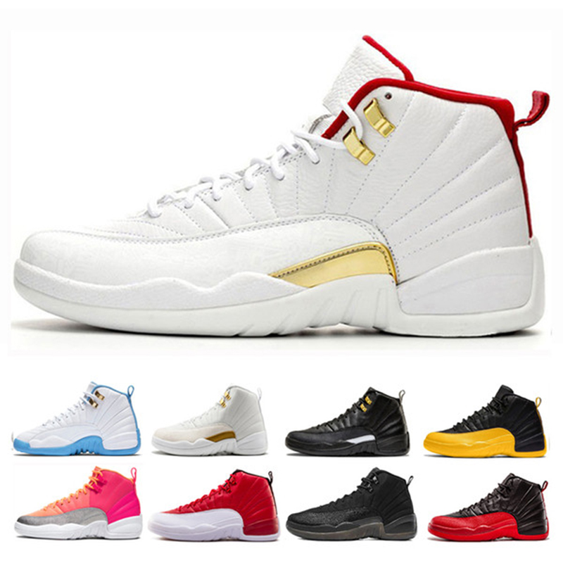 Men Basketball Shoes Retro 12 Playoff Gym Red White Black Flu Game Royal Ball Hot Gold Sports Sneaker Trainers Size  7-12