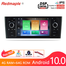 IPS Screen Android 10.0 Car Auto Radio GPS Navigation Multimedia Stereo For Fiat Grande Punto Linea 2006 2012 DVD Headunit 4G RA