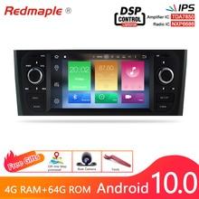IPS ekran Android 10.0 araba otomobil radyosu GPS navigasyon multimedya Stereo Fiat Grande Punto Linea 2006 2012 DVD ana ünite 4G RA
