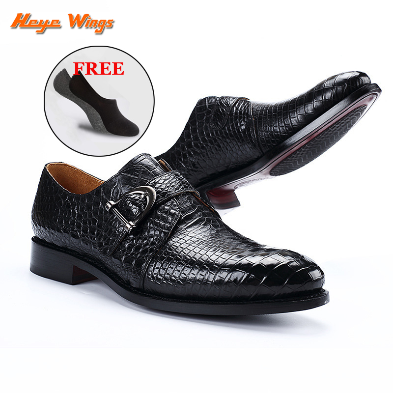 Bespoke handmade high-end dress shoes men's business luxury leather shoes wiht strap buckle