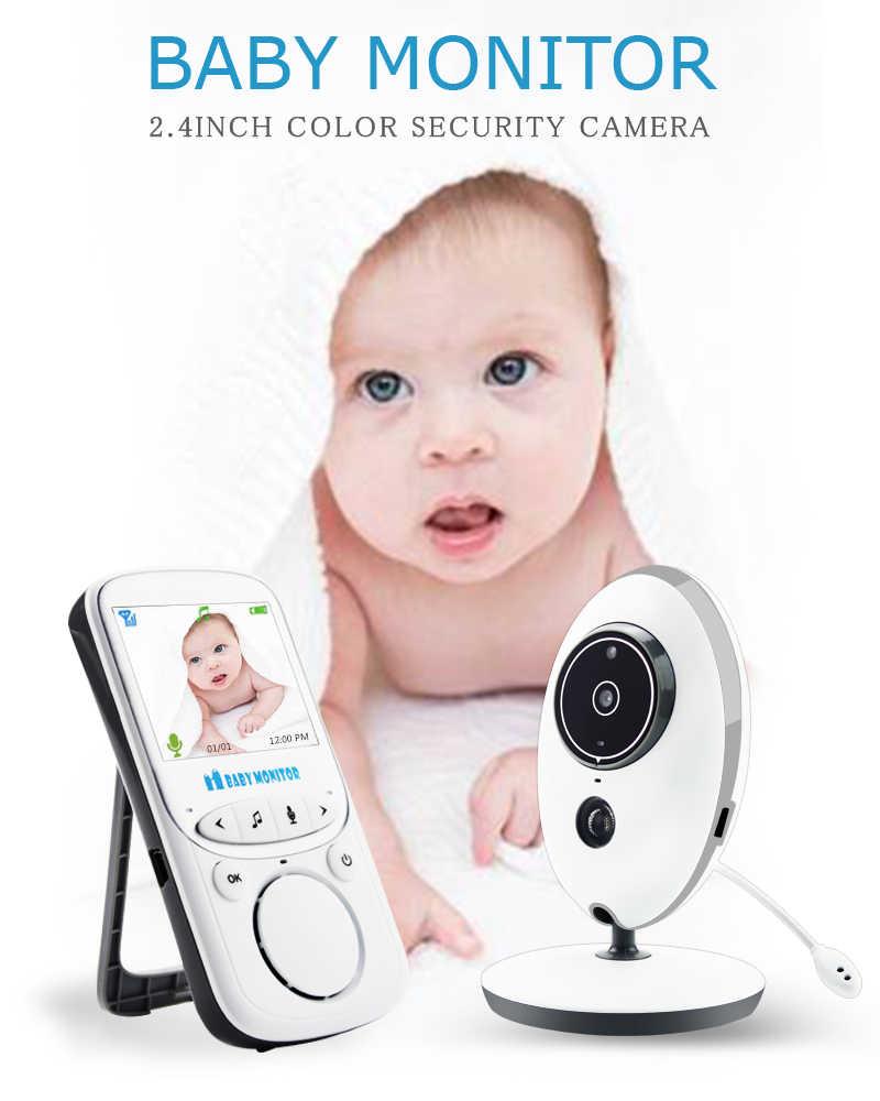 Monitor de vídeo inalámbrico para bebé 2,4 pulgadas Color cámara de seguridad intercomunicador IR 24h bebé Walkie IR LED cámara portátil para bebé VB605