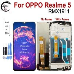 ЖК-дисплей Realme 5 с рамкой для OPPO Realme 5 RMX1911, дисплей, сенсорный экран, дигитайзер, датчик в сборе, ЖК-дисплей Realme5, замена 6,5