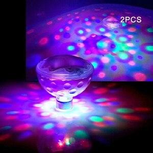 Bombillas de bola flotante para niños, decoración colorida para estanque, Spa, Juguetes LED para niños, bañera, lámpara para bebé, piscina, luz subacuática brillante