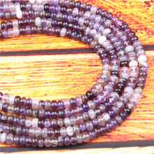Amethyst Natural Gem 4X6/5X8MM Abacus Bead Spacer Bead Wheel Bead Accessory For Jewelry Making Diy Bracelet Necklace