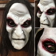 Halloween-Mask Horror Latex Clown Scary Full-Head Cosplay with Long-Wigs Big-Eye Party