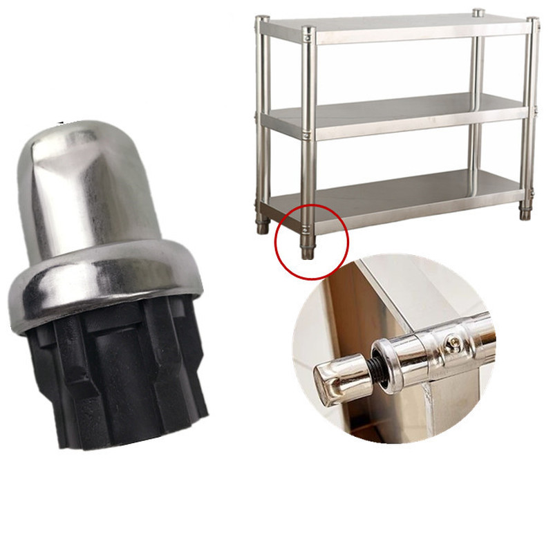 Stainless Steel Adjustable Support Leg Floor Protectors For Furniture Legs Plug Cabinet Table Sofa Level Feet Chair Foot Cover