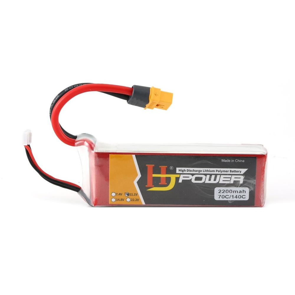 3S RC Lipo Battery HJ 11.1V 2200MAH 70C XT60 Plug Rechargeable For RC Racing Drone Helicopter Car Boat Model