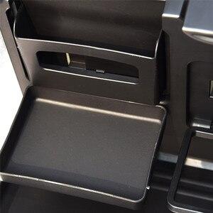 Image 5 - Universal Auto Tasse Halter Organizer Auto Vordersitz Zurück Tisch Getränke Folding Cup Holder Stand Schreibtisch Schwarz Trays