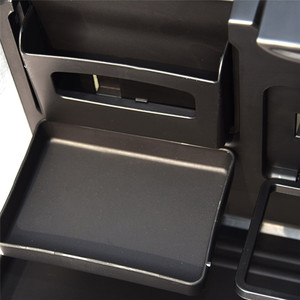 Image 5 - Universal Car Cup Holder Organizer Car Front Seat Back Table Drinks Folding Cup Holder Stand Desk Black Trays
