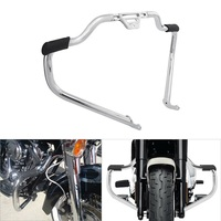 Motorcycle Mustache Engine Guard Crash Bar For Harley Softail Slim Deluxe Fat Boy Street Bob Models Heritage Classic FLFB FLHCS