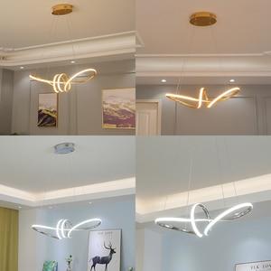 Image 4 - ゴールドクロームメッキ現代ledシャンデリアダイニングルームキッチンルームリビングルームのホームデコシャンデリア器具