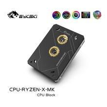 Bykski bloc deau CPU, carte mère RGB 3 broches, lumière et radiateur en cuivre, pour AMD RYZEN3000, AM3 + AM4 1950X TR4 X399 X570