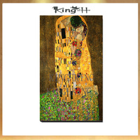 Classic artist gustav klimt figures lovers kiss abstract painting modern art wall decoration painting the sitting room porch cor
