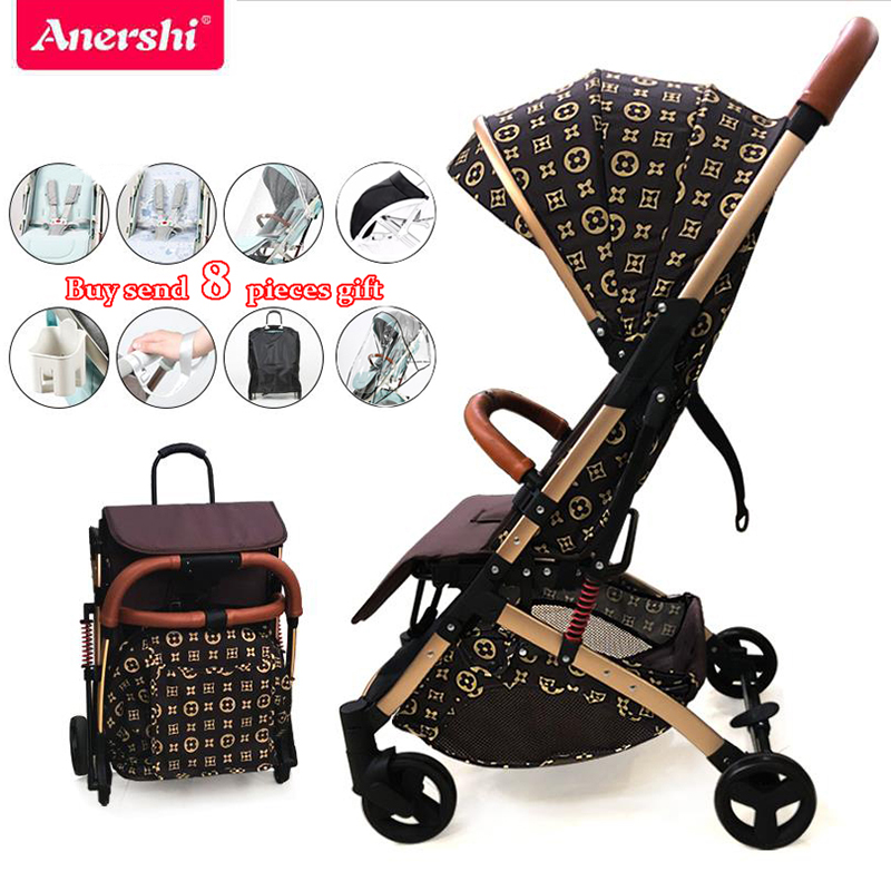 Baby Stroller Can Sit Reclining Ultra Light Portable Folding Shock Absorbers Children Hand Push Umbrella Baby Baby Stroller
