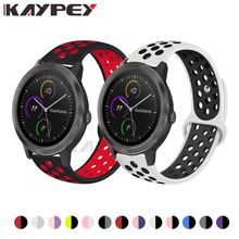 Colorful Silicone Wrist Band For Garmin Vivoactive 3 HR Venu Sports Bracelet for Forerunner 645 music Breathable Wristband