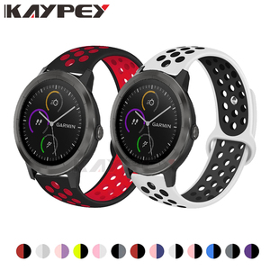 Image 1 - Colorful Silicone Wrist Band For Garmin Vivoactive 3 HR Venu Sports Bracelet for Forerunner 645 music Breathable Wristband