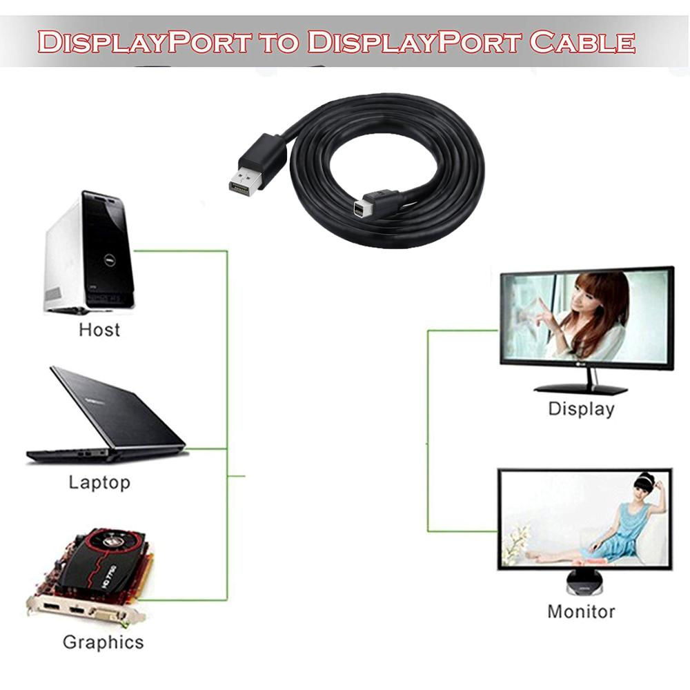 Closeout DealsäDisplayport To Male-To-Male Black DP 6ft 60hz