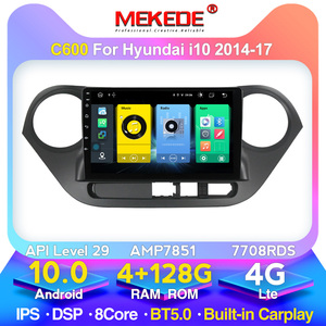 MEKEDE 128G 4G LTE Android10 Car video For HYUNDAI i10 2014 2015 2016 2017 Multimedia Stereo Car DVD Player Navigation GPS Radio
