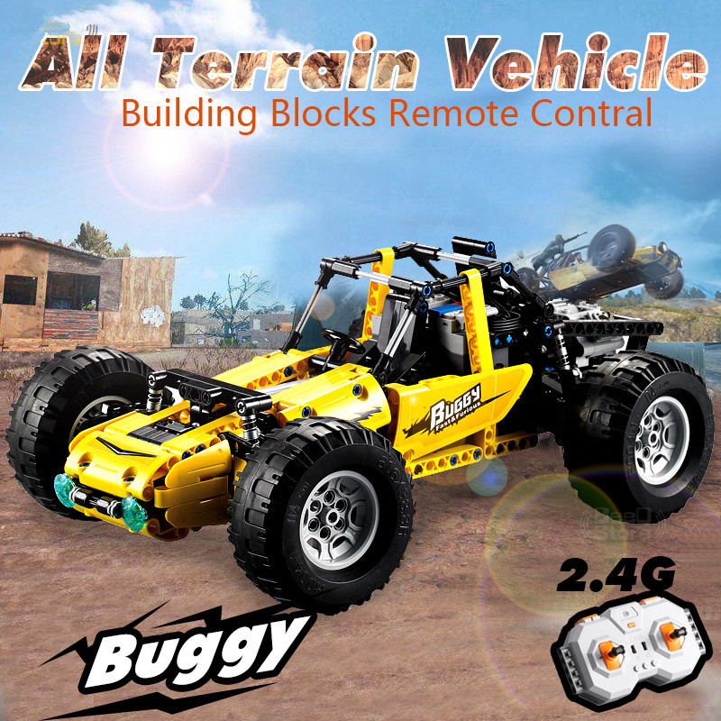 Toys Building-Blocks for Children RC Car-All-Terrain Vehicle Simulation-Model Remote-Control-Car