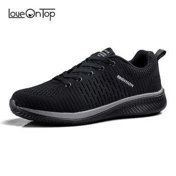 2019 Spring summer Men's mesh Fly Knit Casual Sneakers running Man New Fashion Breathable Comfortable lace up Shoes - DISCOUNT ITEM  40% OFF All Category